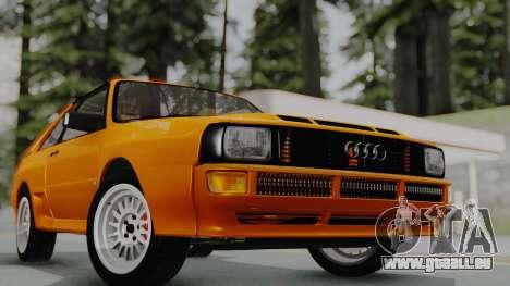 Audi Quattro Coupe 1983 für GTA San Andreas rechten Ansicht