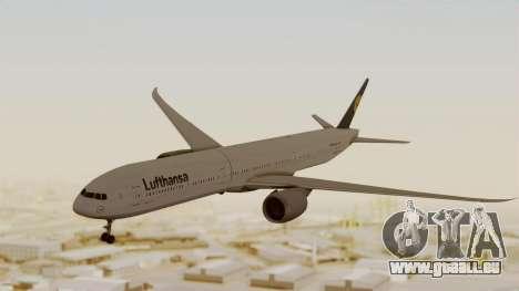 Boeing 777-9x Deutsche Lufthansa pour GTA San Andreas sur la vue arrière gauche