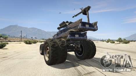 GTA 5 Mad Max The Gigahorse hinten links Seitenansicht
