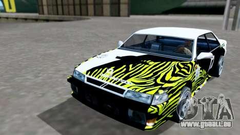 Sultan 4 Drift Drivers V2.0 pour GTA San Andreas vue arrière