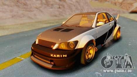 GTA 5 Karin Sultan RS Carbon pour GTA San Andreas vue de dessous