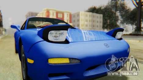 Mazda RX-7 1993 v1.1 pour GTA San Andreas vue de dessus