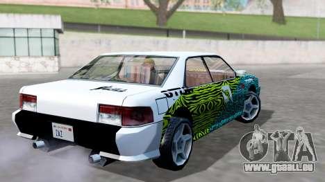 Sultan 4 Drift Drivers V2.0 pour GTA San Andreas laissé vue
