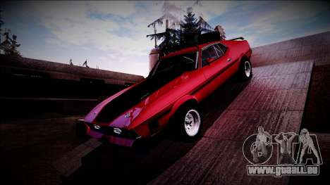 1971 Ford Mustang Rusty Rebel pour GTA San Andreas vue arrière