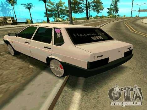 VAZ 21099 Gvr pour GTA San Andreas laissé vue