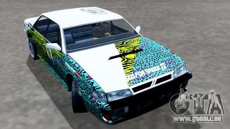 Sultan 4 Drift Drivers V2.0 pour GTA San Andreas sur la vue arrière gauche
