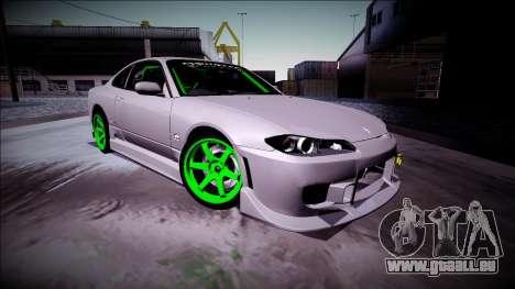 Nissan Silvia S15 Drift Monster Energy für GTA San Andreas linke Ansicht