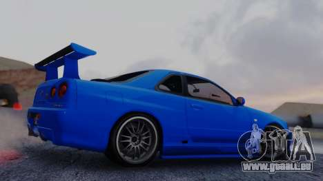 Nissan Skyline R34 Full Tuning für GTA San Andreas linke Ansicht
