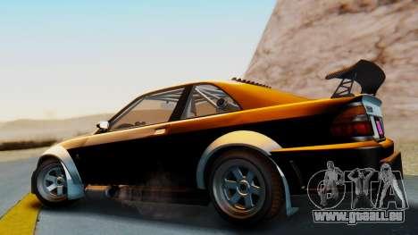 GTA 5 Karin Sultan RS Carbon IVF pour GTA San Andreas laissé vue