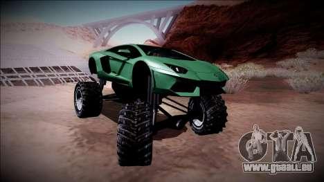 Lamborghini Aventador Monster Truck für GTA San Andreas Seitenansicht