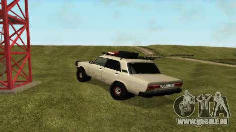 VAZ 2107, 4x4 für GTA San Andreas zurück linke Ansicht