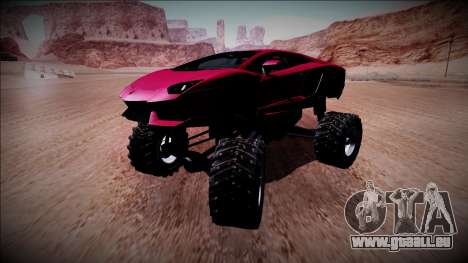 Lamborghini Aventador Monster Truck für GTA San Andreas Innenansicht
