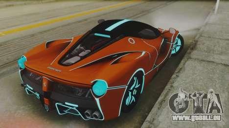 Ferrari LaFerrari TRON Edition v1.0 pour GTA San Andreas sur la vue arrière gauche