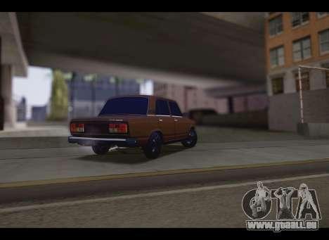 VAZ 2107 Oper für GTA San Andreas zurück linke Ansicht