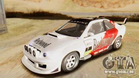 GTA 5 Karin Sultan RS IVF pour GTA San Andreas vue de dessus