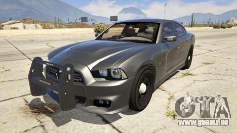 2012 Unmarked Dodge Charger für GTA 5