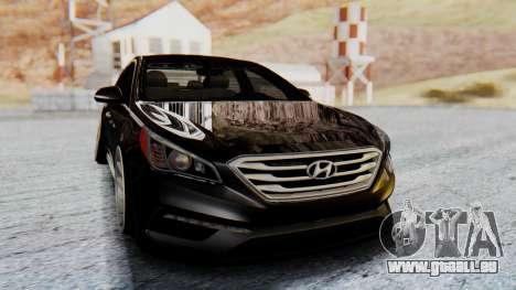 Hyundai Sonata Turbo 2015 pour GTA San Andreas vue de droite