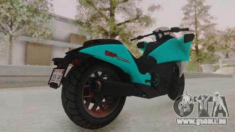 GTA 5 Dinka Vindicator SA Light pour GTA San Andreas sur la vue arrière gauche