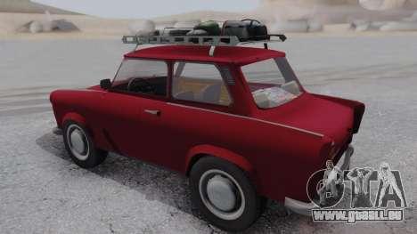 Trabant 601 pour GTA San Andreas sur la vue arrière gauche