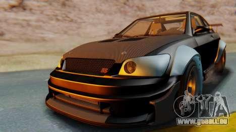GTA 5 Karin Sultan RS Carbon IVF pour GTA San Andreas vue de droite