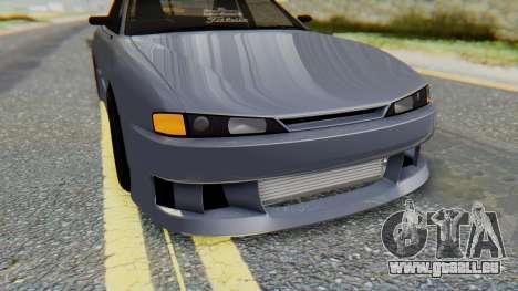Nissan Silvia S14 pour GTA San Andreas vue de dessus
