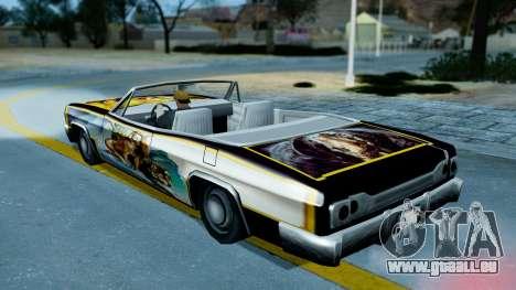 Slamvan New PJ für GTA San Andreas Rückansicht