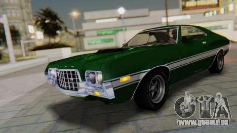 Ford Gran Torino Sport SportsRoof (63R) 1972 PJ1 für GTA San Andreas Unteransicht