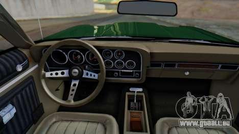 Ford Gran Torino Sport SportsRoof (63R) 1972 IVF für GTA San Andreas Innenansicht