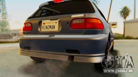 Honda Civic Vti 1994 V1.0 IVF für GTA San Andreas Unteransicht