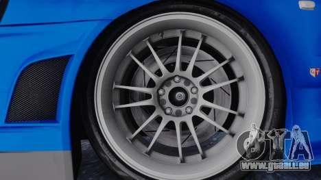 Nissan Skyline R34 Full Tuning pour GTA San Andreas sur la vue arrière gauche