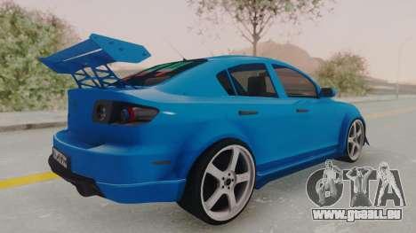 Mazda 3 Full Tuning pour GTA San Andreas laissé vue