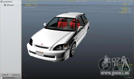 GTA 5 Honda Civic Type-R EK9 rechte Seitenansicht