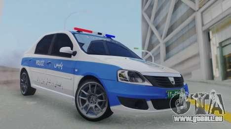 Dacia Logan Iranian Police pour GTA San Andreas