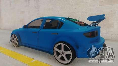 Mazda 3 Full Tuning pour GTA San Andreas sur la vue arrière gauche