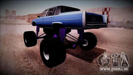 GTA 4 Emperor Monster Truck für GTA San Andreas linke Ansicht