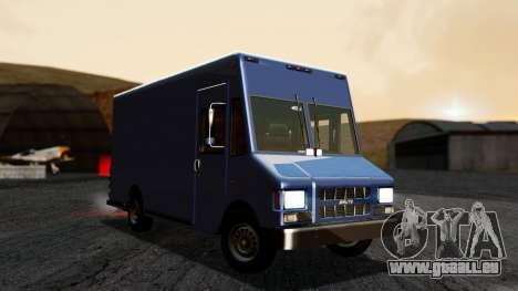 Boxville from GTA 5 without Dirt pour GTA San Andreas vue de droite