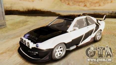 GTA 5 Karin Sultan RS IVF pour GTA San Andreas vue de dessous