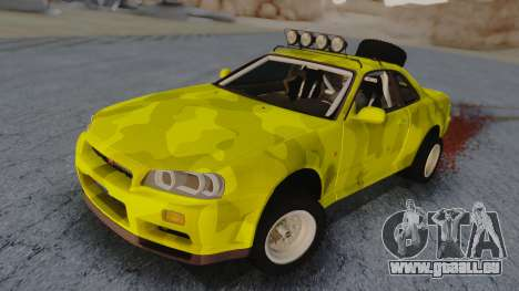 Nissan Skyline R34 Rusty Rebel pour GTA San Andreas