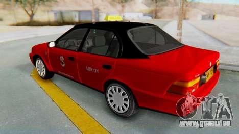 Toyota Corolla Dollar Taxi pour GTA San Andreas vue de droite