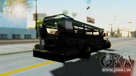 LGS Motors Eggtype Jeepney pour GTA San Andreas sur la vue arrière gauche