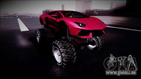 Lamborghini Aventador Monster Truck für GTA San Andreas rechten Ansicht