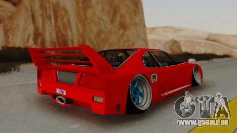 Turismo Saber X für GTA San Andreas linke Ansicht