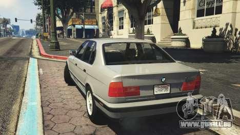 GTA 5 BMW 535i E34 v1.1 hinten links Seitenansicht