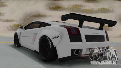 Lamborghini Gallardo 2005 LW LB Performance pour GTA San Andreas laissé vue
