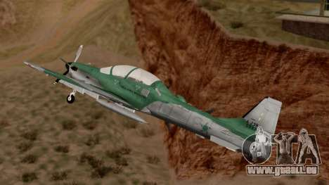 A-29B Embraer Super Tucano für GTA San Andreas zurück linke Ansicht