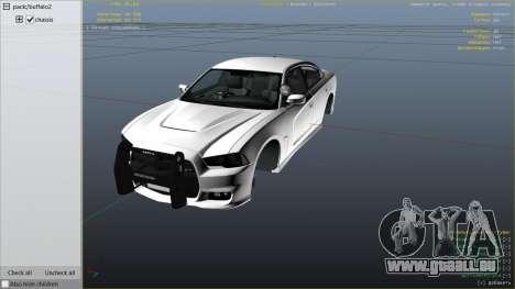 GTA 5 2012 Unmarked Dodge Charger rechte Seitenansicht