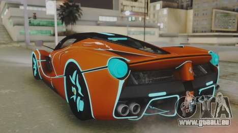 Ferrari LaFerrari TRON Edition v1.0 pour GTA San Andreas laissé vue