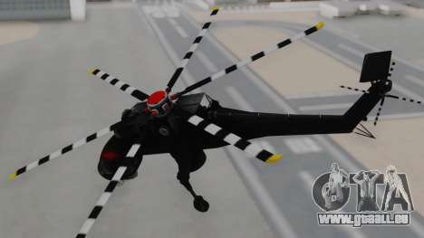 GTA 5 HVY Skylift pour GTA San Andreas sur la vue arrière gauche