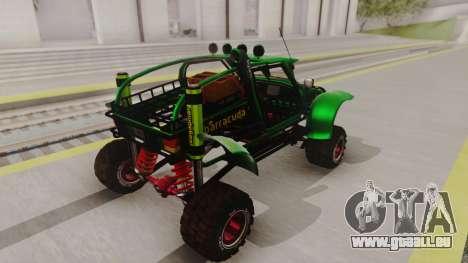 Mudmonster pour GTA San Andreas sur la vue arrière gauche