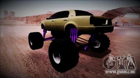 GTA 4 Washington Monster Truck pour GTA San Andreas laissé vue